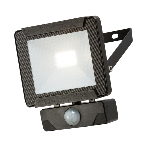 Knightsbridge FLR10P IP65 10W LED Black Die-Cast Aluminium FloodLight With PIR Sensor 4000K - Knightsbridge - Sparks Warehouse