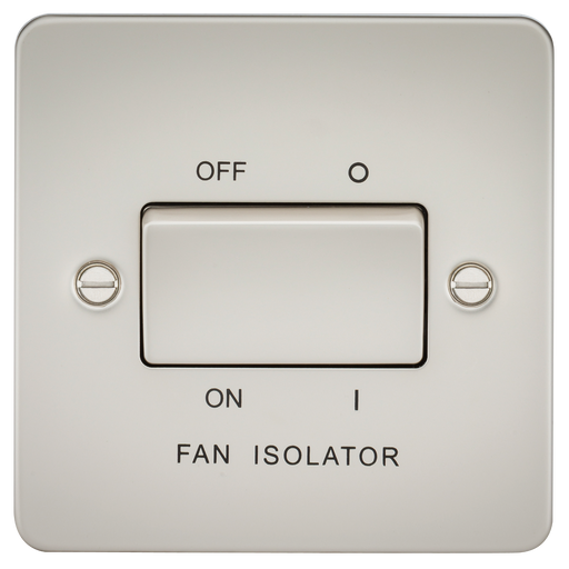 Knightsbridge FP1100PL Flat Plate 10A 3 POLE Fan Isolator Switch - Pearl - Knightsbridge - sparks-warehouse
