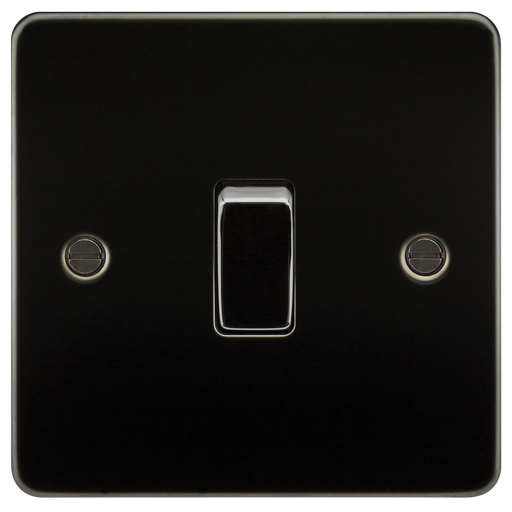 Knightsbridge FP1200GM Flat Plate 10A 1G INTERMEDIATE Switch - Gunmetal - Knightsbridge - sparks-warehouse