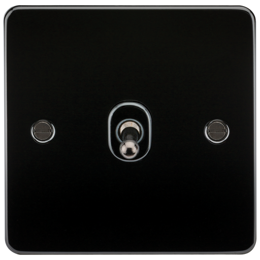 Knightsbridge FP12TOGGM Flat Plate 10A 1G INTERMEDIATE Toggle Switch - Gunmetal - Knightsbridge - sparks-warehouse