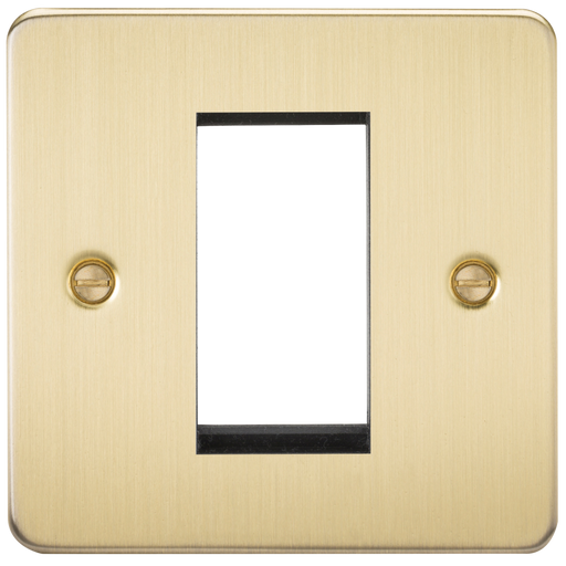 Knightsbridge FP1GBB 1G Modular Face Plate - Brushed Brass - Knightsbridge - Sparks Warehouse