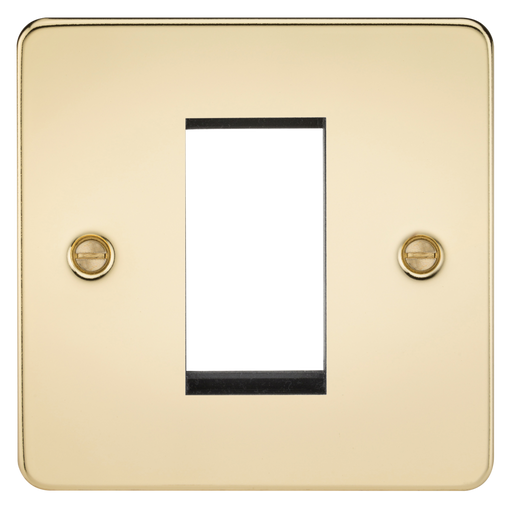 Knightsbridge FP1GPB 1G Modular Face Plate - Polished Brass