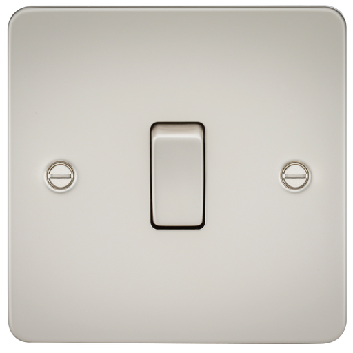 Knightsbridge FP2000PL Flat Plate 10A 1G 2 WAY Switch - Pearl - Knightsbridge - sparks-warehouse
