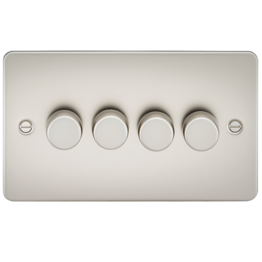 Knightsbridge FP2174PL Flat Plate 4G 2 WAY 40-400W Dimmer - Pearl - Knightsbridge - Sparks Warehouse