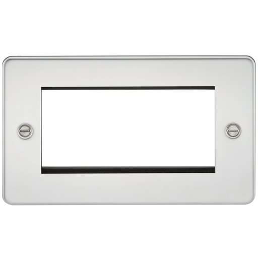 Knightsbridge FP4GPC 4G Modular Face Plate - Polished Chrome - Knightsbridge - Sparks Warehouse