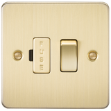 Knightsbridge FP6300BB Flat Plate 13A Switched Fused Spur Unit - Brushed Brass