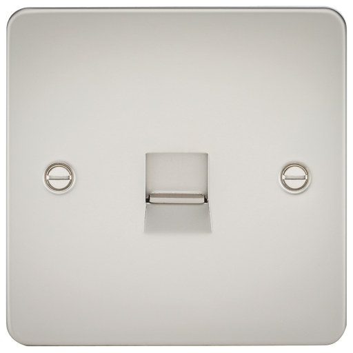 Knightsbridge FP7400PL Flat Plate Telephone Extension Socket - Pearl - Knightsbridge - sparks-warehouse