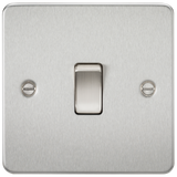 Knightsbridge FP8341BC Flat Plate 20A 1G DP Switch - Brushed Chrome