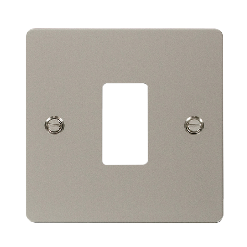 Scolmore FPPN20401 - 1 Gang GridPro® Frontplate - Pearl Nickel - Scolmore - Sparks Warehouse