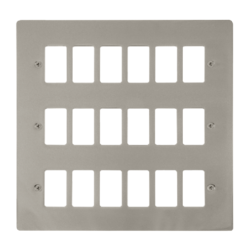 Scolmore FPPN20518 - 18 Gang GridPro® Frontplate - Pearl Nickel - Scolmore - Sparks Warehouse