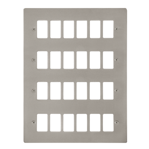 Scolmore FPPN20524 - 24 Gang GridPro® Frontplate - Pearl Nickel - Scolmore - Sparks Warehouse