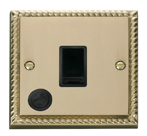 Scolmore GCBR022BK - 20A 1 Gang DP Switch With Flex Outlet - Black - Scolmore - Sparks Warehouse