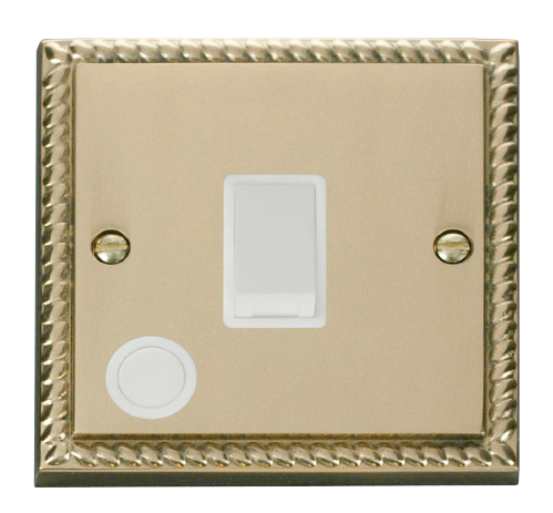 Scolmore GCBR022WH - 20A 1 Gang DP Switch With Flex Outlet - White - Scolmore - Sparks Warehouse
