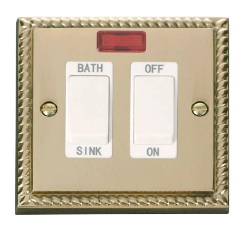 Scolmore GCBR024WH - 20A DP Sink/Bath Switch - White - Scolmore - Sparks Warehouse