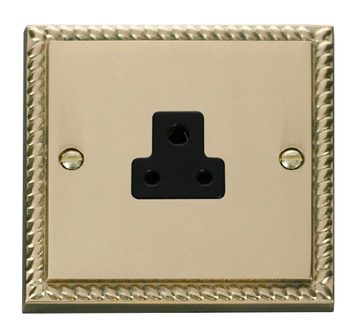 Scolmore GCBR039BK - 2A Round Pin Socket Outlet - Black