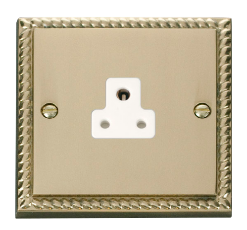 Scolmore GCBR039WH - 2A Round Pin Socket Outlet - White