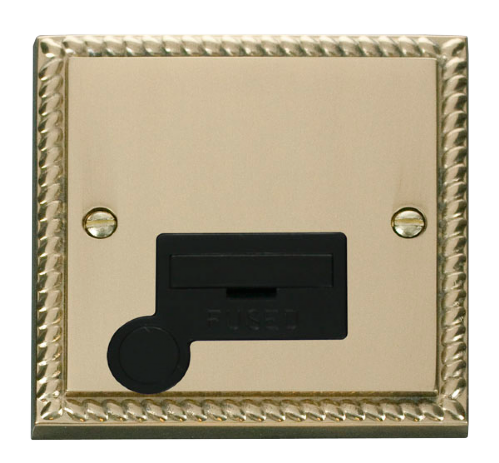 Scolmore GCBR050BK - 13A Fused Connection Unit With Flex Outlet - Black
