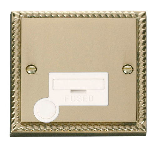 Scolmore GCBR050WH - 13A Fused Connection Unit With Flex Outlet - White