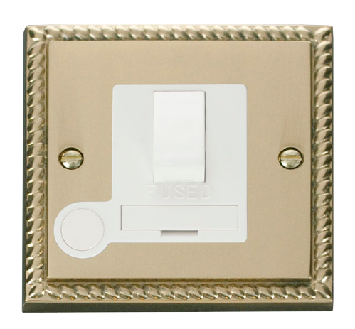Scolmore GCBR051WH - 13A Fused Switched Connection Unit With Flex Outlet - White