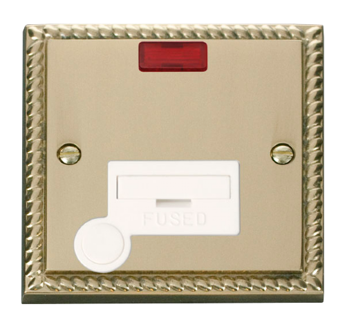 Scolmore GCBR053WH - 13A Fused Connection Unit With Flex Outlet & Neon - White - Scolmore - Sparks Warehouse