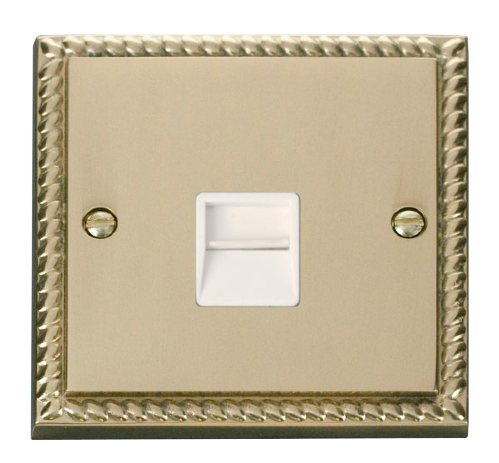 Scolmore GCBR120WH - Single Telephone Socket Outlet Master - White - Scolmore - Sparks Warehouse
