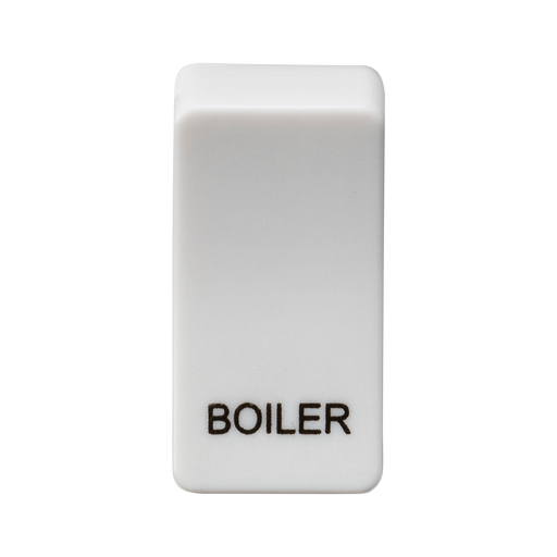 "Knightsbridge GDBOILU Switch cover ""marked BOILER"" - white - Knightsbridge - Sparks Warehouse"