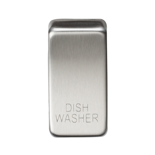 "Knightsbridge GDDISHBC Switch cover ""marked DISHWASHER"" - brushed chrome - Knightsbridge - Sparks Warehouse"