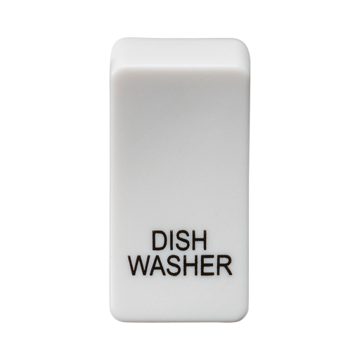 "Knightsbridge GDDISHU Switch cover ""marked DISHWASHER"" - white - Knightsbridge - Sparks Warehouse"