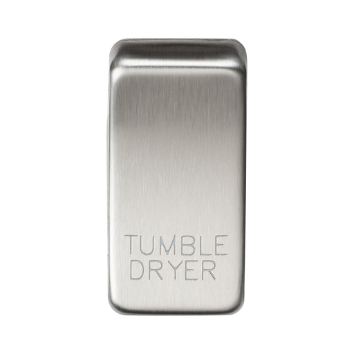 "Knightsbridge GDDRYBC Switch cover ""marked TUMBLE DRYER"" - brushed chrome - Knightsbridge - Sparks Warehouse"