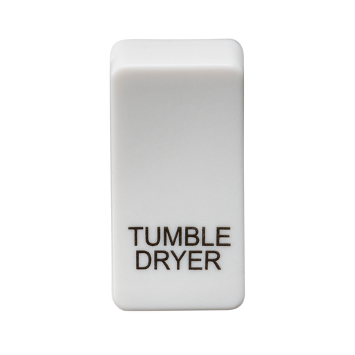 "Knightsbridge GDDRYU Switch cover ""marked TUMBLE DRYER"" - white - Knightsbridge - Sparks Warehouse"