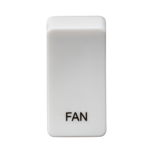 "Knightsbridge GDFANU Switch cover ""marked FAN"" - white - Knightsbridge - Sparks Warehouse"