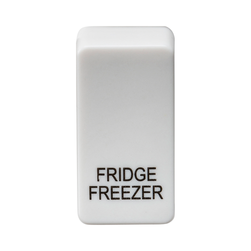 "Knightsbridge GDFRIDU Switch cover ""marked FRIDGE/FREEZER"" - white - Knightsbridge - Sparks Warehouse"