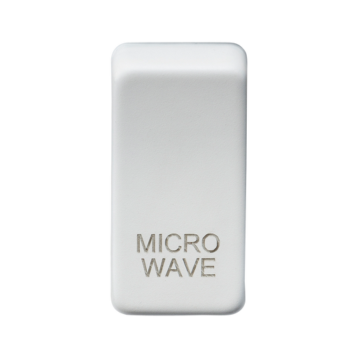 "Knightsbridge GDMICROMW Switch cover ""marked MICROWAVE"" - matt white"
