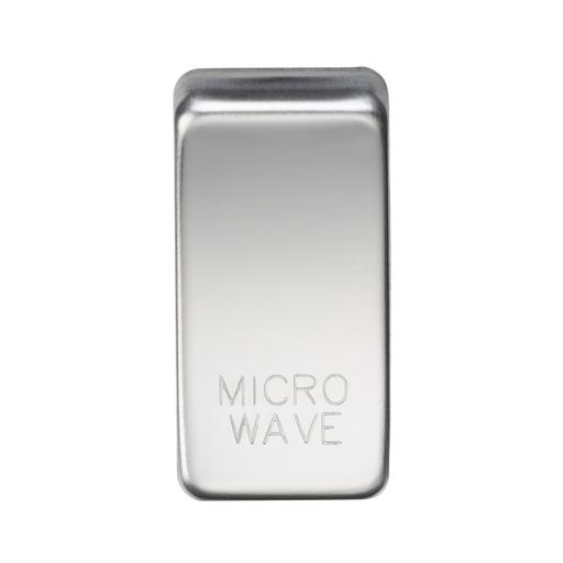 "Knightsbridge GDMICROPC Switch cover ""marked MICROWAVE"" - polished chrome"
