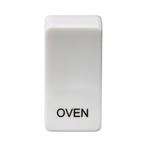 "Knightsbridge GDOVENU Switch cover ""marked OVEN"" - white - Knightsbridge - Sparks Warehouse"