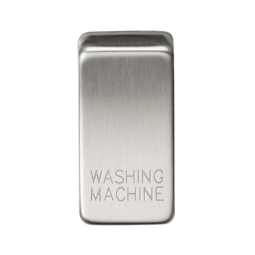 "Knightsbridge GDWASHBC Switch cover ""marked WASHING MACHINE"" - brushed chrome - Knightsbridge - Sparks Warehouse"