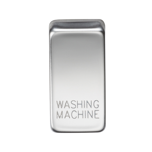 "Knightsbridge GDWASHPC Switch cover ""marked WASHING MACHINE"" - polished chrome - Knightsbridge - Sparks Warehouse"