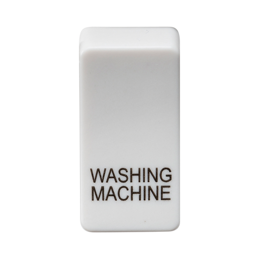"Knightsbridge GDWASHU Switch cover ""marked WASHING MACHINE"" - white - Knightsbridge - Sparks Warehouse"