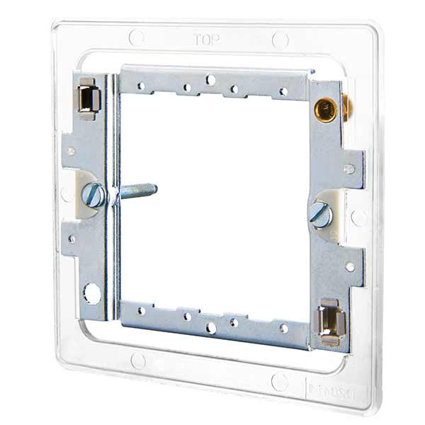 BG Nexus GFR12FP Grid Frame For Screwless Flat Plate - 1 or 2 Gang - BG - sparks-warehouse