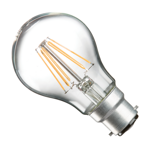 Casell GLL8BC-82D-CA - 8W BC / B22 Clear Dimmable LED GLS Light Bulb - Casell - Sparks Warehouse