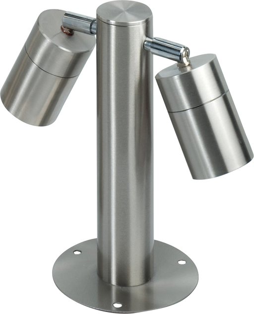 Knightsbridge Ground2 IP65 2 X GU10 35W MAX Adjustable Stainless Steel BOLLARD-245mm - Knightsbridge - sparks-warehouse