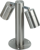 Knightsbridge Ground2 IP65 2 X GU10 35W MAX Adjustable Stainless Steel BOLLARD-245mm