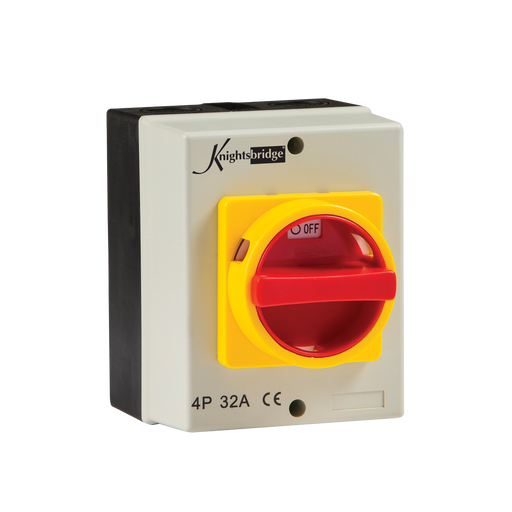 Knightsbridge IN0026 IP65 32A ROTARY Isolator 4P AC (230V-415V) - Knightsbridge - sparks-warehouse