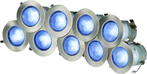 Knightsbridge Kit16B IP65 230V 0.2w Blue LED Kit - Set of 10 - Knightsbridge - sparks-warehouse