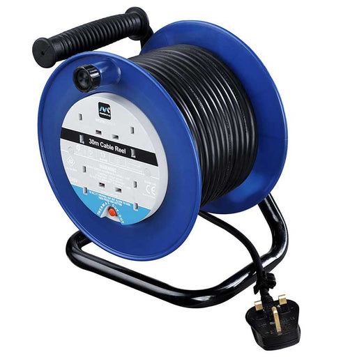 BG LDCC3013/4BL 13A 30M 4 Gang Extension Cable Reel in Blue - BG - sparks-warehouse