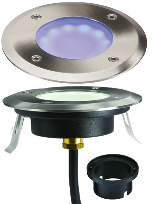Knightsbridge LEDM08B1 230V IP65 1.2W LED BLUE GRound or Decking  Light - Knightsbridge - Sparks Warehouse