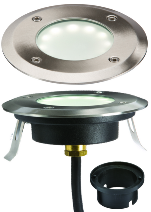 Knightsbridge LEDM08W1 230V IP65 1.2W LED White GRound or Decking  Light - Knightsbridge - Sparks Warehouse
