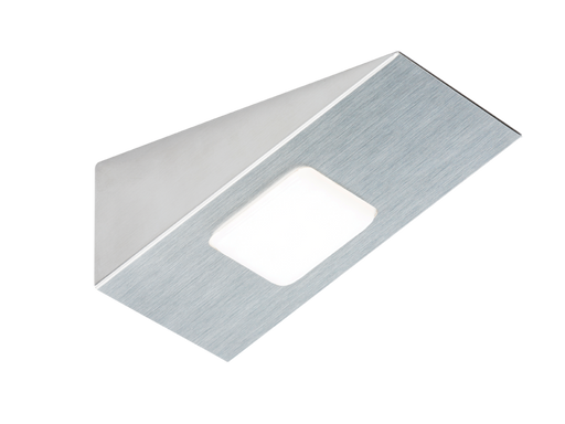 Knightsbridge LEDREC 12V DC 3W LED RECTANGULAR Cabinet Light - Brushed Chrome
