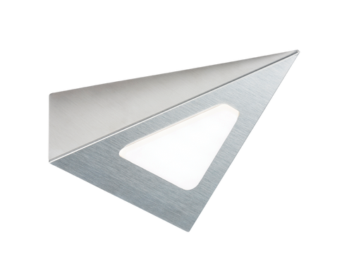 Knightsbridge LEDTRI 12V DC 3W LED TRIANGULAR Cabinet Light - Brushed Chrome