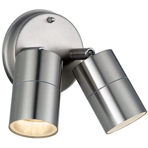 Luceco  LEXDSS5T30  Stainless Steel Twin Garden IP54 Rated Wall Light - Luceco - Sparks Warehouse